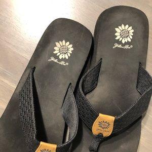 Yellow Box Shoes - 3 for $6! Black Yellow Box Flip Flops